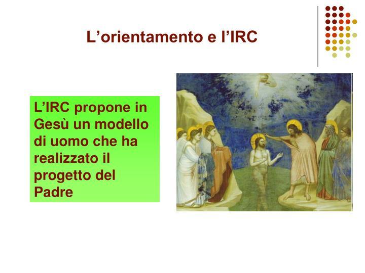 L'orientamento e l'IRC
