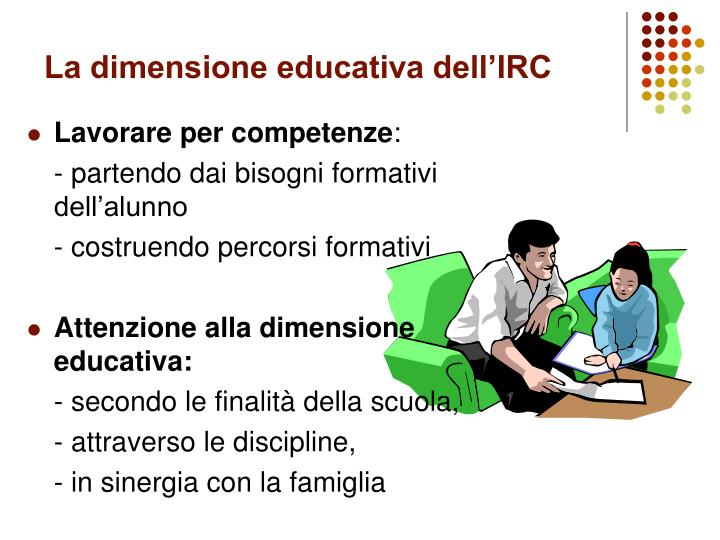 La dimensione educativa dell'IRC
