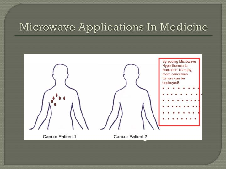 Microwave Applications In Medicine