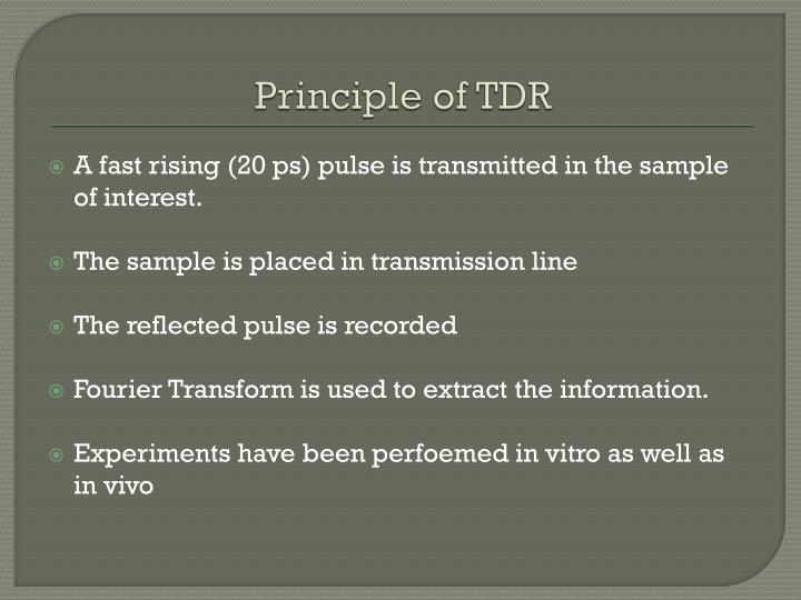 Principle of TDR