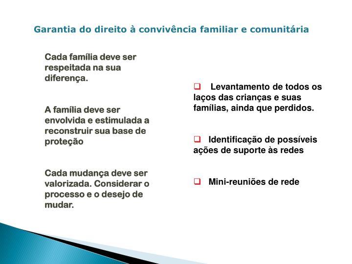 Garantia do direito à convivência familiar e comunitária