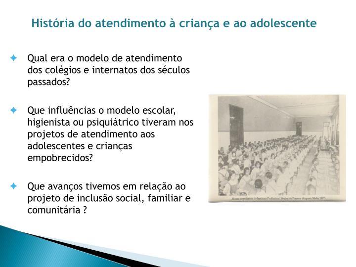 História do atendimento à criança e ao adolescente