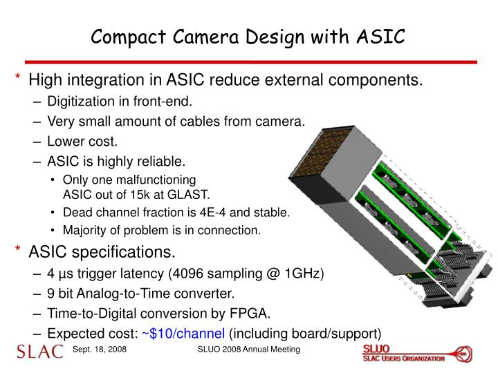 Compact Camera Design with ASIC