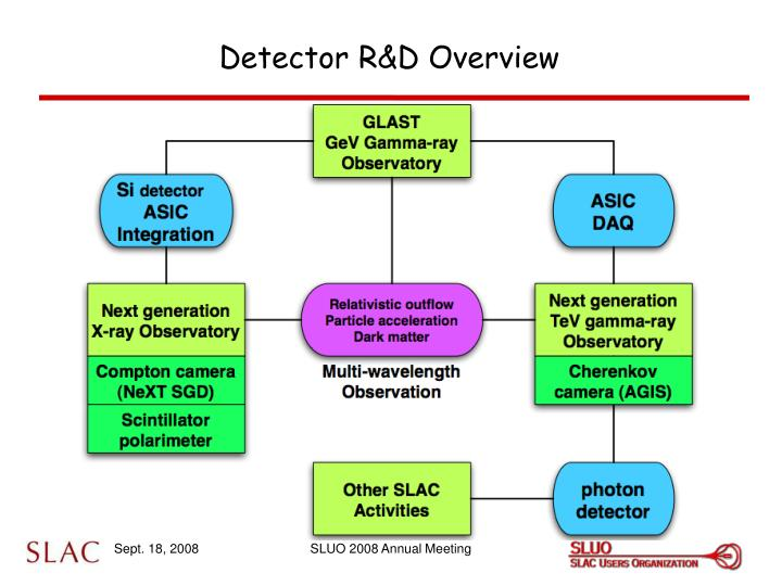 Detector r d overview