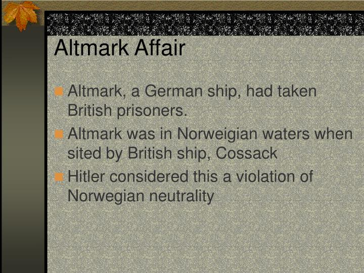 Altmark Affair