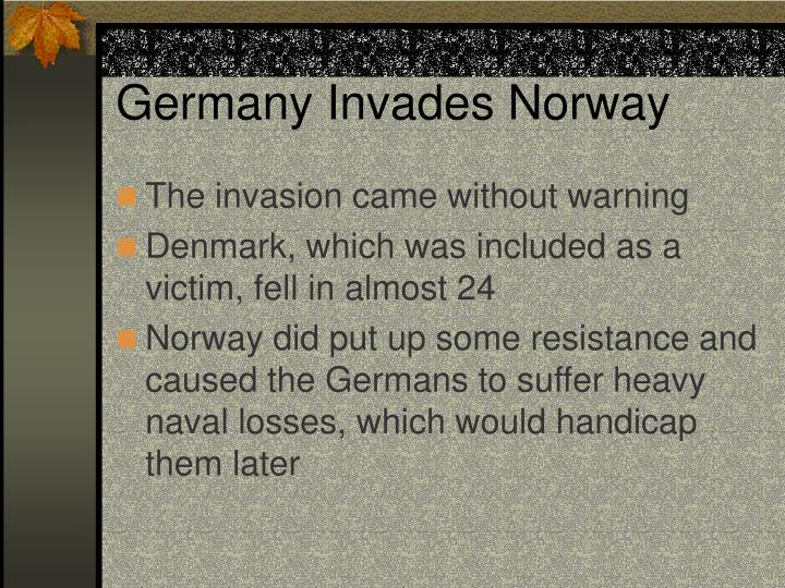 Germany Invades Norway