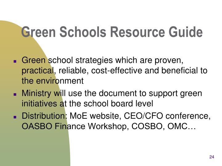 Green Schools Resource Guide