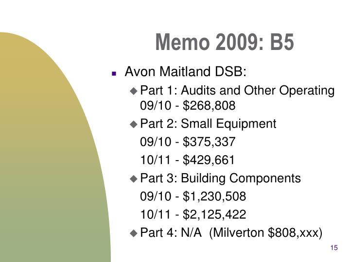 Memo 2009: B5