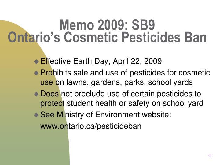 Memo 2009: SB9