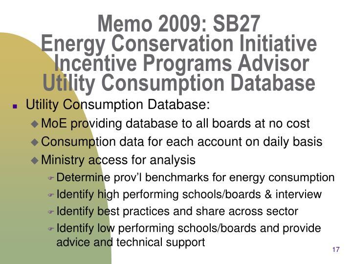 Memo 2009: SB27