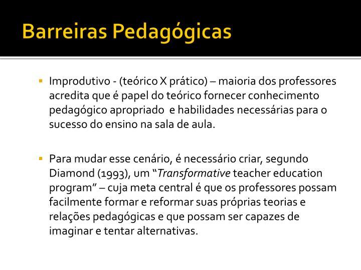 Barreiras Pedagógicas