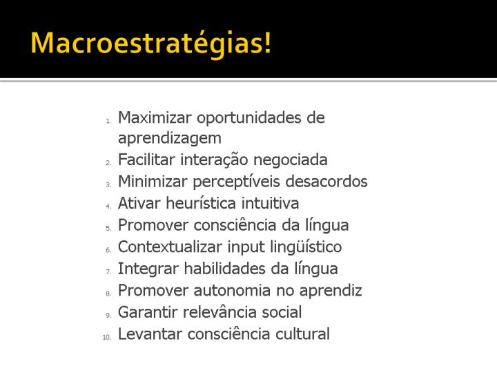 Macroestratégias!