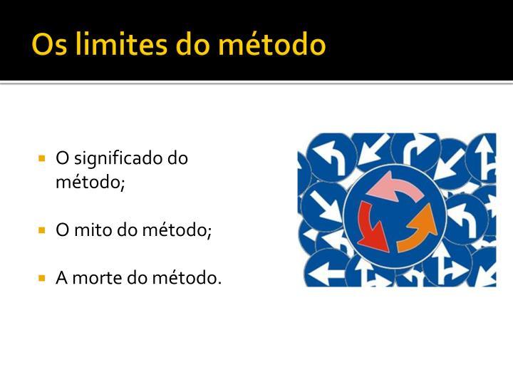 Os limites do método
