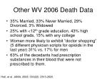 other wv 2006 death data