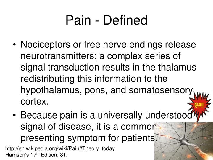 Pain - Defined