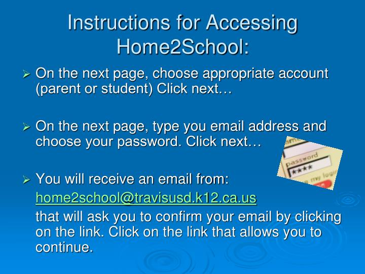 Instructions for Accessing Home2School: