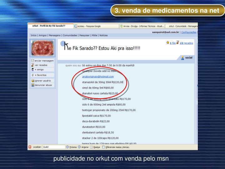 3. venda de medicamentos na net