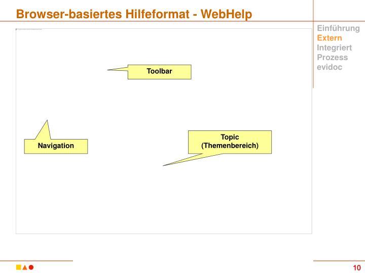 Browser-basiertes Hilfeformat - WebHelp