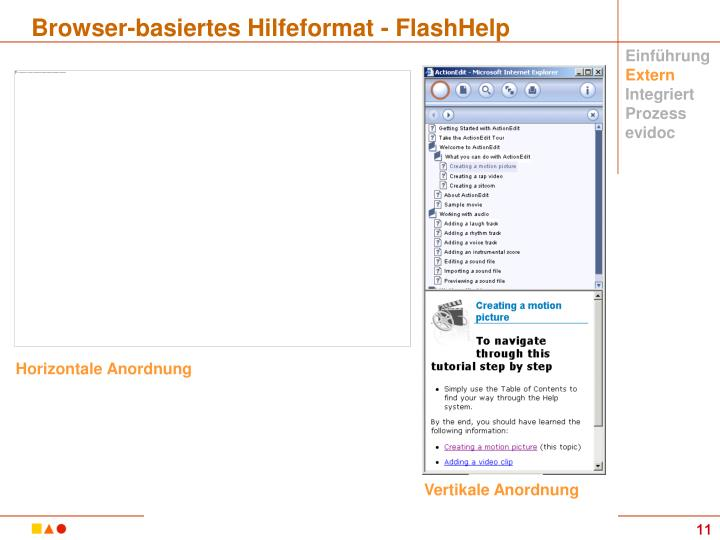 Browser-basiertes Hilfeformat - FlashHelp