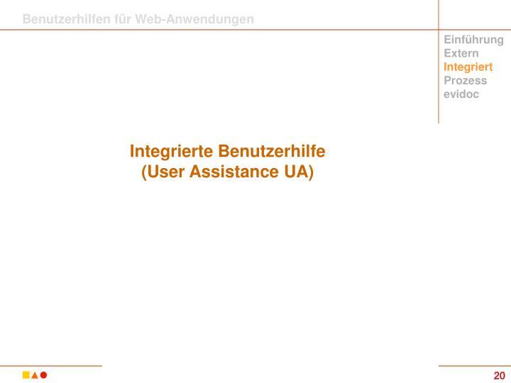 Benutzerhilfen für Web-Anwendungen