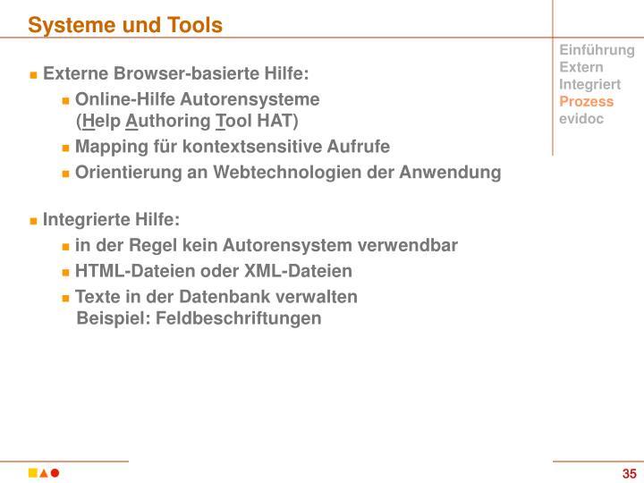Systeme und Tools