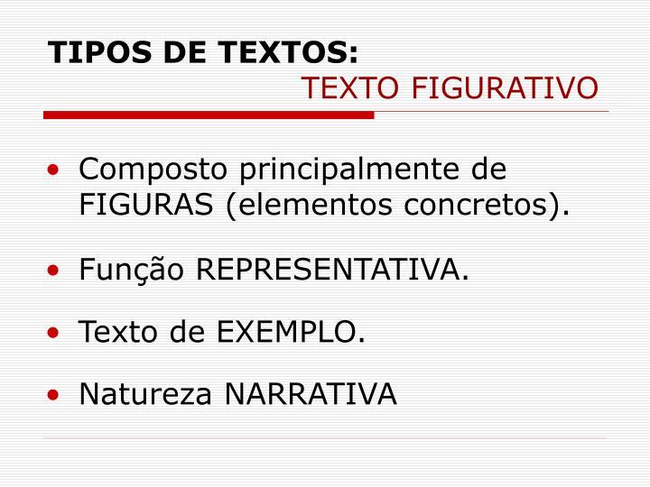 TIPOS DE TEXTOS: