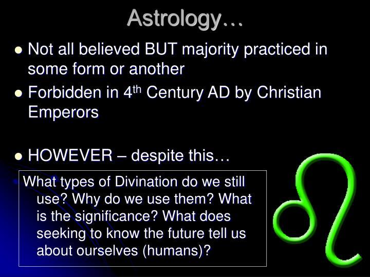 Astrology…