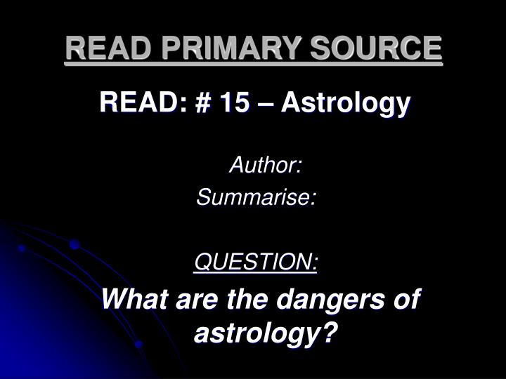 READ PRIMARY SOURCE