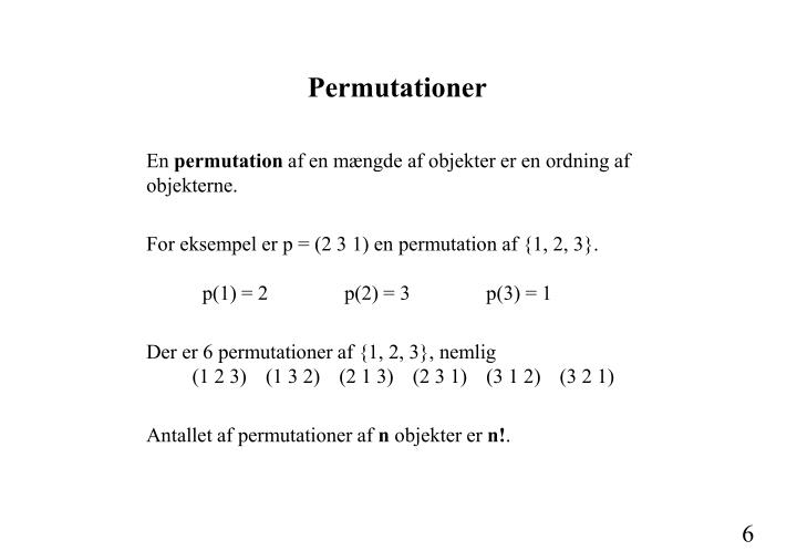 Permutationer