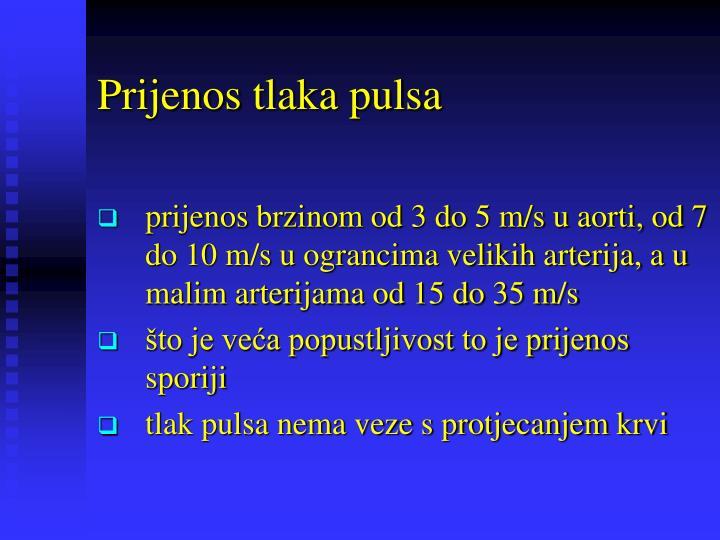 Prijenos tlaka pulsa