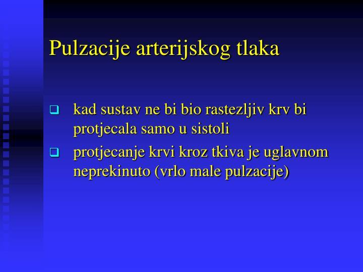 Pulzacije arterijskog tlaka