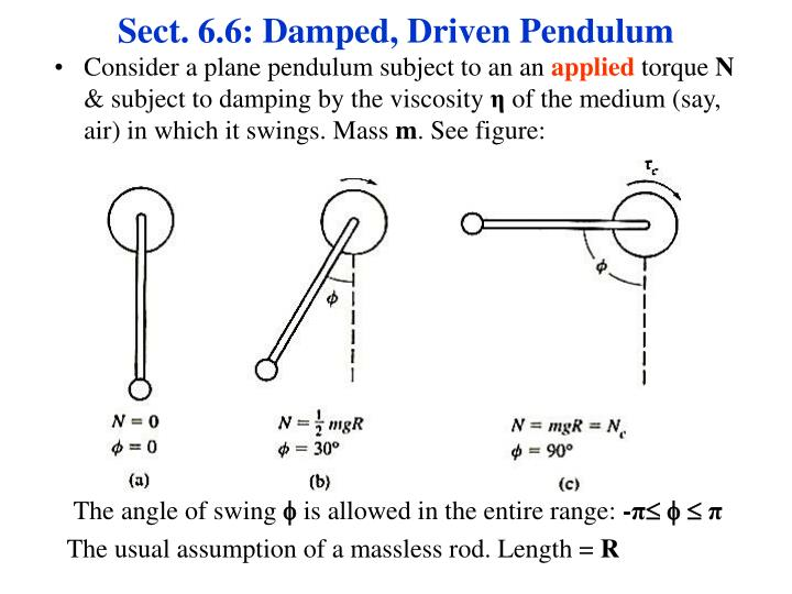 Sect. 6.6: Damped, Driven Pendulum