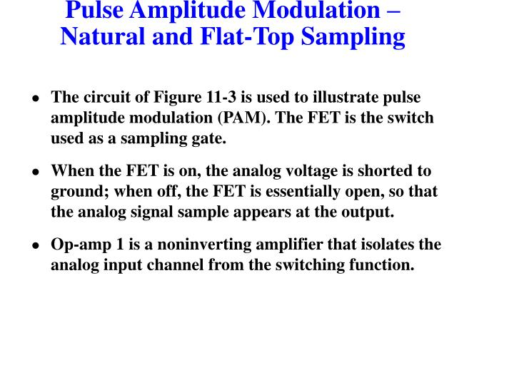Pulse Amplitude Modulation –