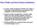 pulse width and pulse position modulation