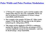 pulse width and pulse position modulation4