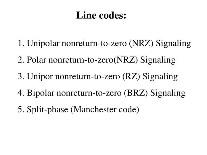 Line codes: