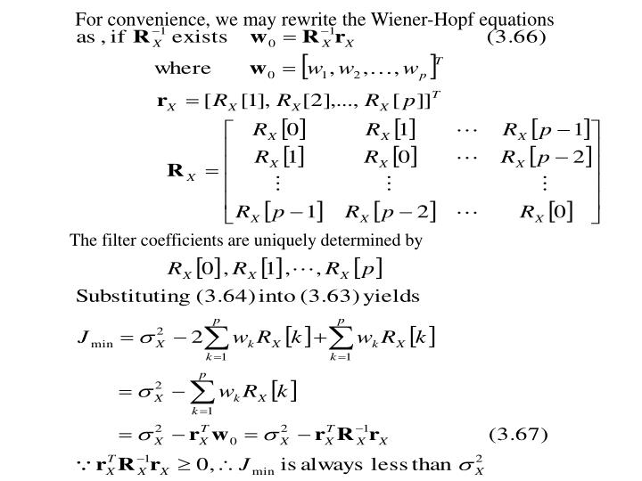 For convenience, we may rewrite the Wiener-Hopf equations
