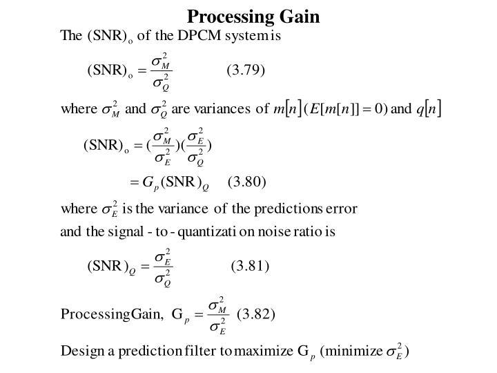 Processing Gain