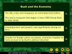 bush and the economy