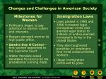 changes and challenges in american society
