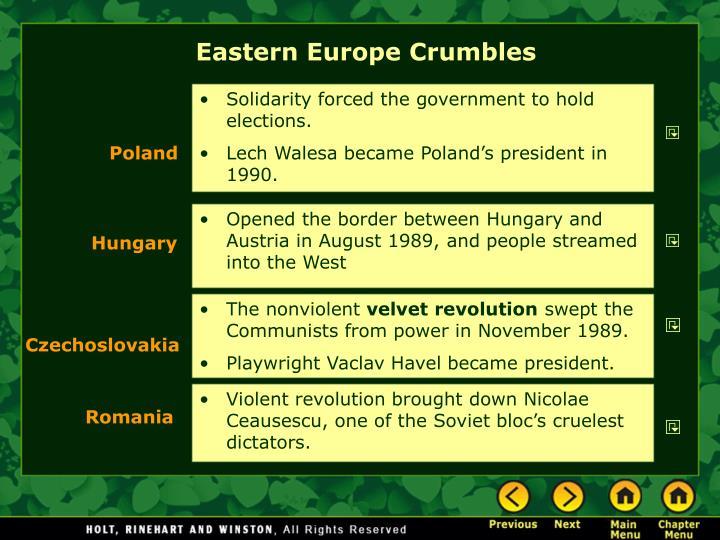 Eastern Europe Crumbles