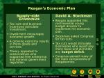 reagan s economic plan