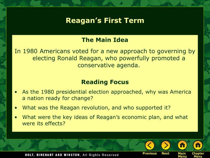 Reagan's First Term