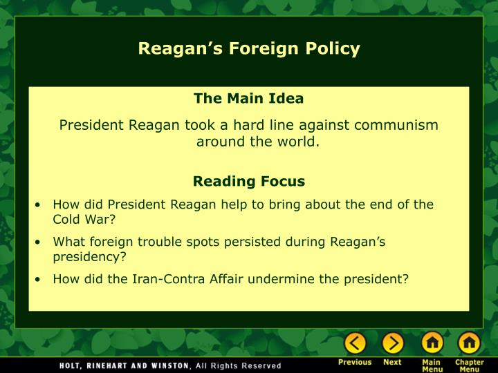 Reagan's Foreign Policy