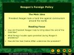 reagan s foreign policy