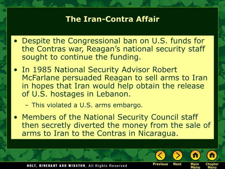 Despite the Congressional ban on U.S. funds for the Contras war, Reagan's national security staff sought to continue the funding.