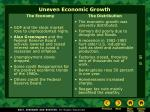 uneven economic growth