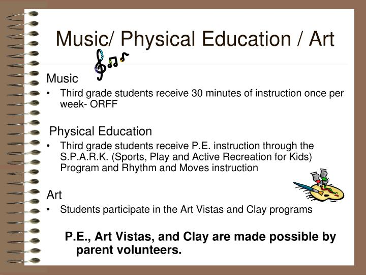 Music/ Physical Education / Art