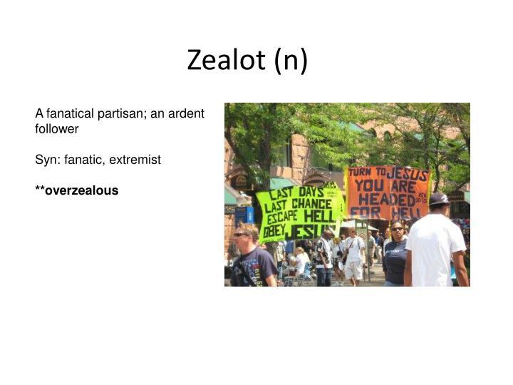 Zealot (n)