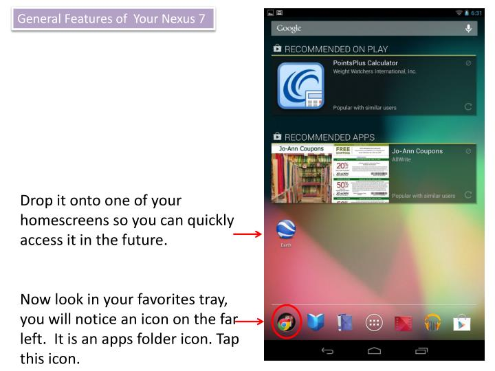 General Features of  Your Nexus 7